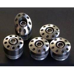 Tapones de chasis en titanio