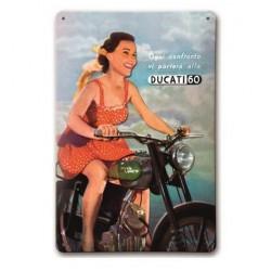 Placa Metalica Años 60 Ducati