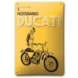 Placa Metálica Notiziario Ducati