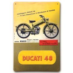 Placa Metálica Ducati 48