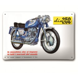 Placa Metalica Ducati 250