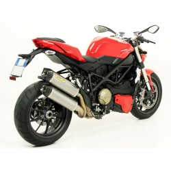 Escapes Arrow para ducati Streetfighter acabado Carby