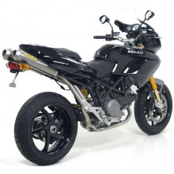 Escapes Arrow para ducati Multistrada 620 1000 1100/S acabado inox. en carbono HOMOLOGADO