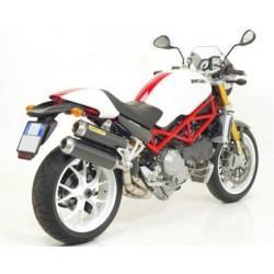 Escapes Arrow para ducati S2R 800 S2R1000 S4R(MOTOR 916) S4RS/S4R TESTASTRETTA acabado Inox. en carbono no homologado