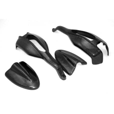 carbon handguards complete kit for ducati hypermotard 1100. Black Bedroom Furniture Sets. Home Design Ideas