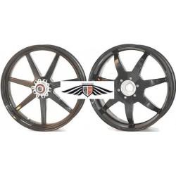 Llantas en carbono de 7 palos Black Mamba para ducati 1098/R 1198 Streetfighter y Multistrada 1200