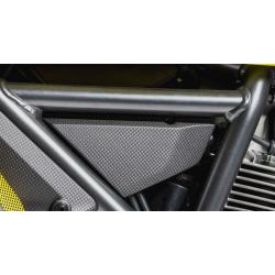 Kit de tapas laterales en carbono para Scrambler