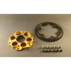 Kit portacoronas AEM Factory 6 agujeros Oro para Ducati