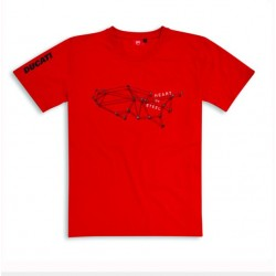 Camiseta Roja Ducati Performance Graphic Art