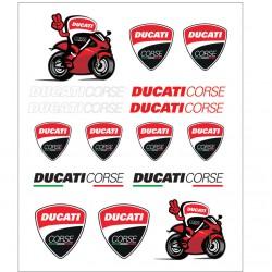 Kit Grande de pegatinas gel Ducati Corse Oficial