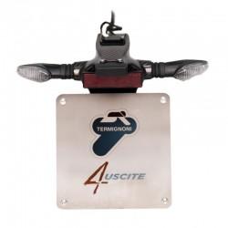 Porta matrículas para Termignoni 4uscite - Ducati Panigale V4