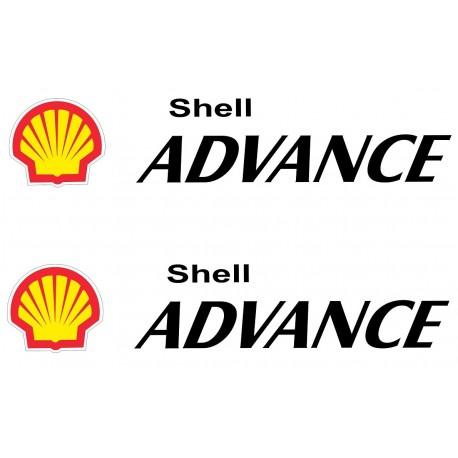 """Par De 3/"""" Classic Shell Pegatinas"""