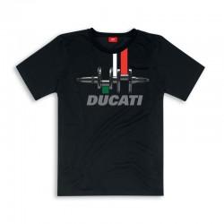 Camiseta Ducati Negra y Tricolore.