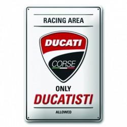 Placa metálica Ducati Corse Ducatisti