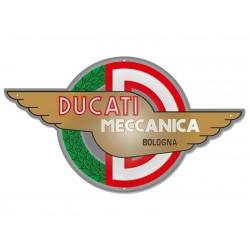 Placa metálica logo Ducati Meccanica