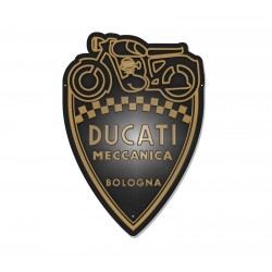 Ducati Meccanica shield metal sign