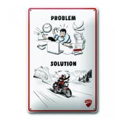 Placa metálica Ducati meccánica