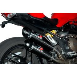 Escapes QD Magnum titanio Ducati Monster 821-1200 / S