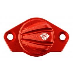 Tapa inspección de cárter Carbon4us Rosso para Ducati