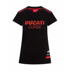 Camiseta Mujer Negra Ducati Corse - STRIPED