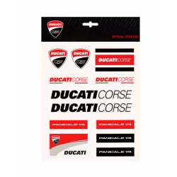Kit Grande de pegatinas multicolor Ducati Corse