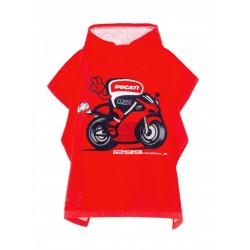 Poncho toalla para niños Ducati Corse Rojo