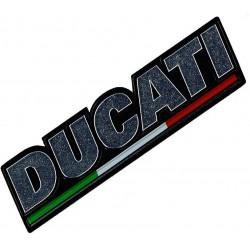 Pegatina Ducati Plateada con bandera. 43815501A