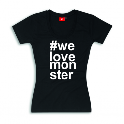 Camiseta Ducati We Love Monster de mujer