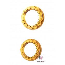 Kit tuercas doradas rueda posterior Ducati AEM Factory