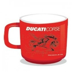 Taza metálica Ducati Corse Panigale V4 color Rojo