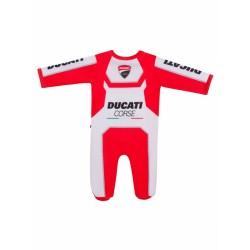 Body infantil rojo y blanco con emblema Ducati Corse