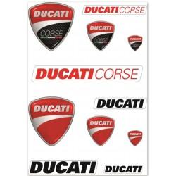 Set pegatinas Ducati Corse