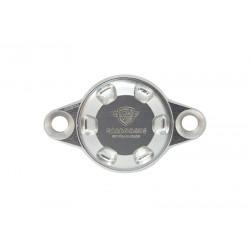Tapa de inspección del cárter plata CARBON4US Ducati.