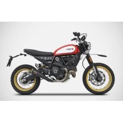 Escape Zard acero Negro Ducati Desert Sled Homologado