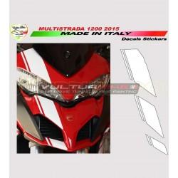Kit de pegatinas de cúpula Racing Ducati Multistrada