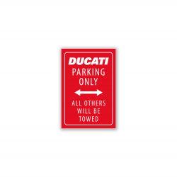 Imán rojo Ducati Parking only-all others will be towed