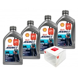 Kit cambio aceite Shell 15/50 Performance para Ducati