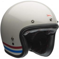 Casco jet BELL White Pearl Custom 500