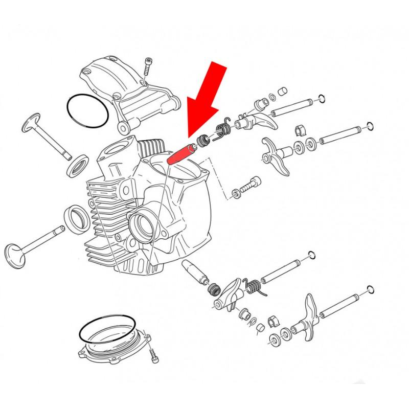 C630 Bronze Valve guide for Ducati   Hypermotard 796 Engine Diagram Valve      Carbon4us.com