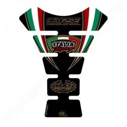 Protector de depósito Italia Racing Fondo Negro Ducati