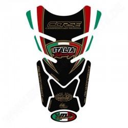 Protector de depósito Italia Racing 4-pc Negro Ducati