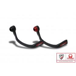 Protector carbono brillo leva freno CNC Ducati Pramac