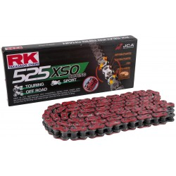 Cadena Roja RK RX-RING 525 118 eslabones para Ducati
