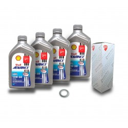 Kit cambio aceite Shell + Filtro Ducati Panigale 1199