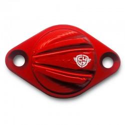 Tapa de inspección cárter roja CARBON4US para Ducati V4