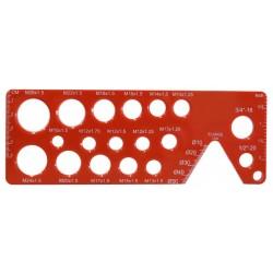 Plantilla de medición de tornillos para Ducati