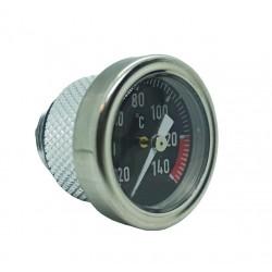 Tapón de aceite con termómetro negro para Ducati.