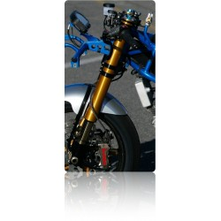 Amortiguador de dirección Ohlins y NCR Factory para Ducati