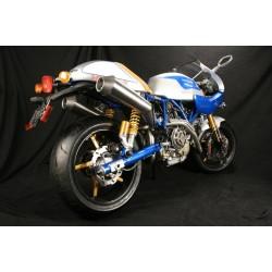 Escape 2 en 2 NCR en titanio para Ducati Sport Classic