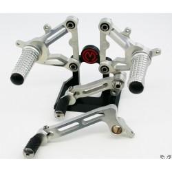 Kit de Estriberas Regulables Aluminio/Titanio